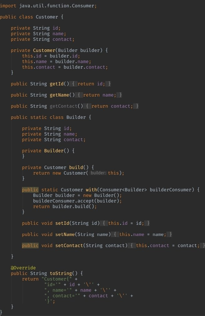 Advanced Builder Immutable Object