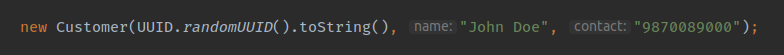 Parameter Name shown by Idea